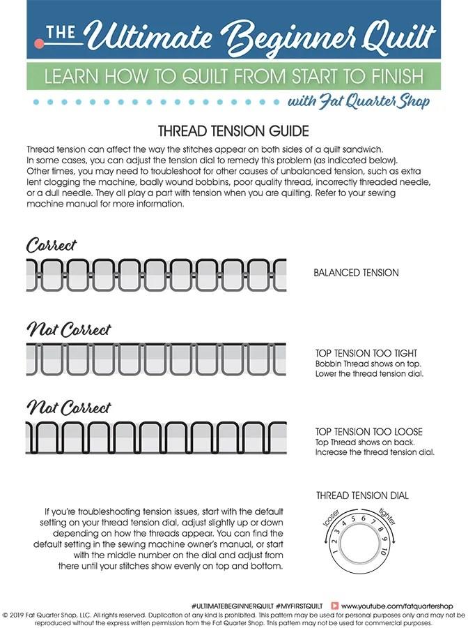 Thread Tension Chart : thread, tension, chart, Thread, Tension, Guide, Pattern, Quarter