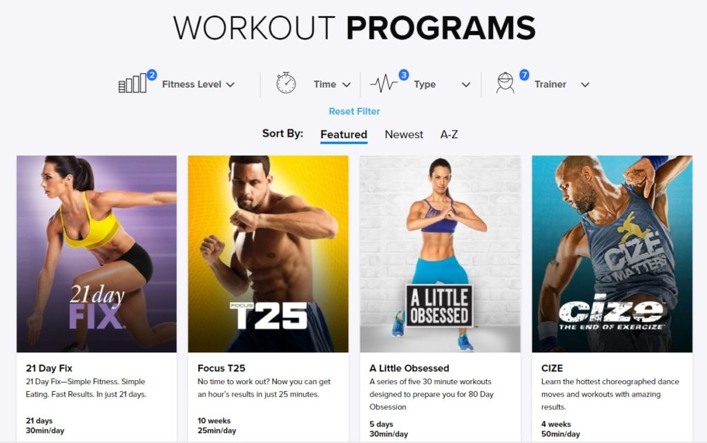 top workout programs fitness workout review
