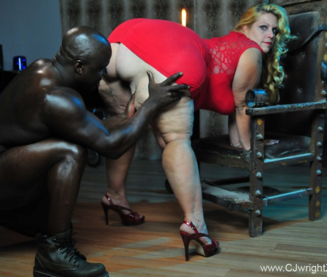 Muscular Black Prince In Fetish Act With Blonde Bbw Slave