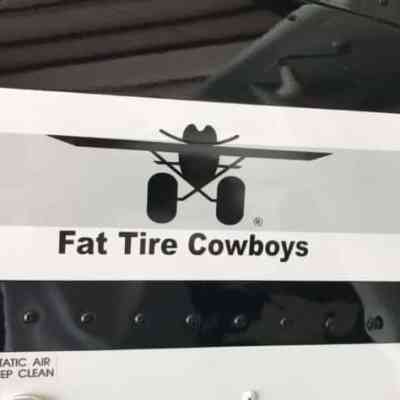 Fat Tire Cowboys Laser Cut Sticker