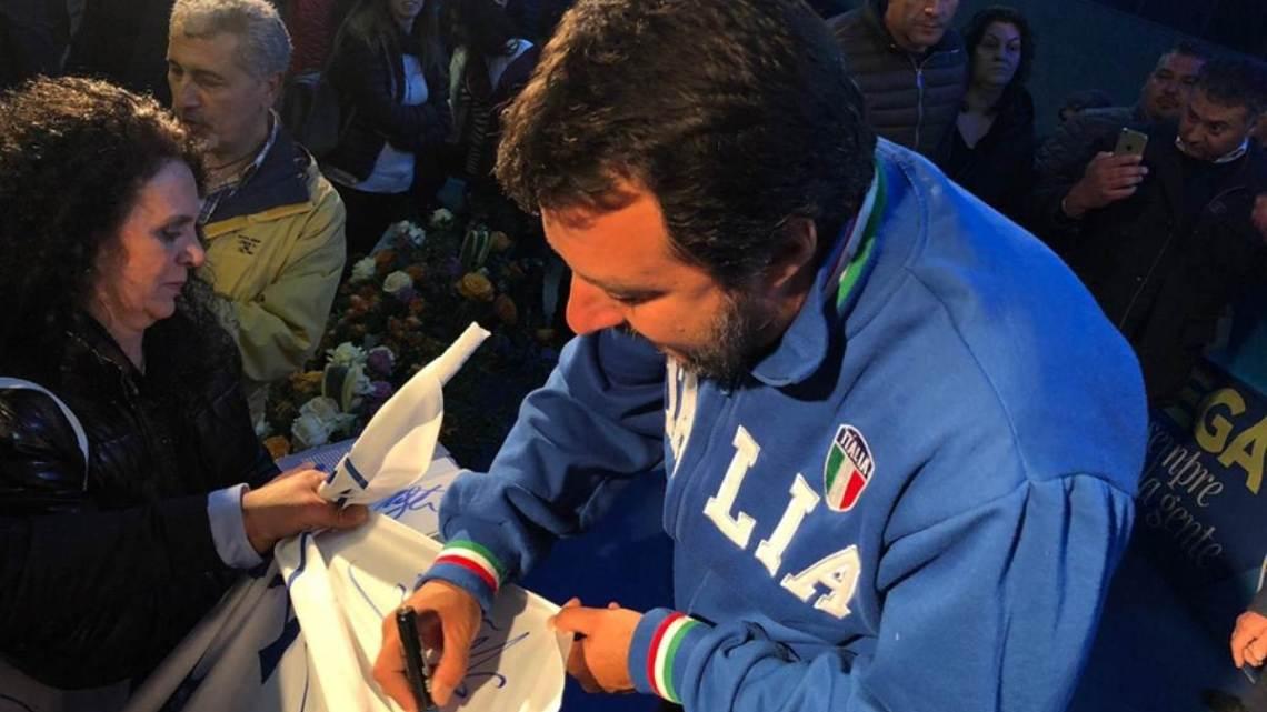 Matteo Salvini a Latina, le Lega tra morte e rinascita