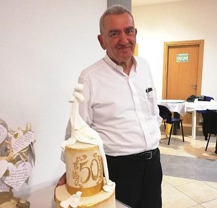 Cisterna, San Valentino festeggia il giubileo di Don Livio