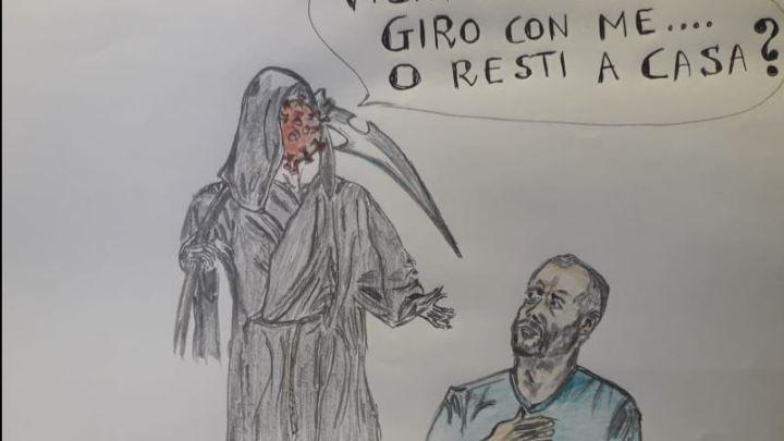 #iorestoacasa, una vignetta spiega perché