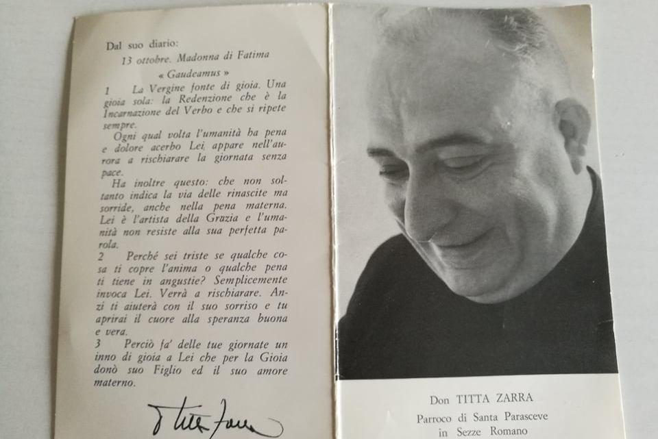 52 anni fa moriva Don Titta Zarra, esiste una Sezze bellissima