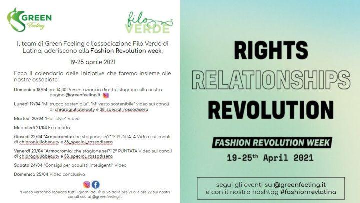 La Fashion Revolution Week arriva a Latina: ecco le iniziative di Green Feeling e Filo Verde