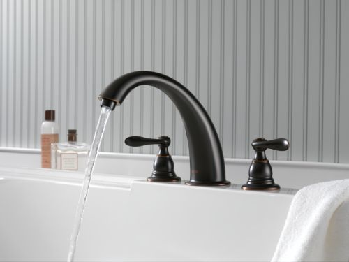 home depot delta kitchen faucets used appliances bt2796-ob foundations windemere roman tub faucet ...