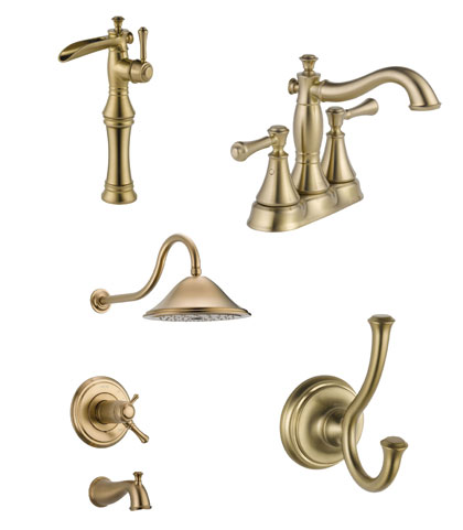 delta cassidy collection faucets and