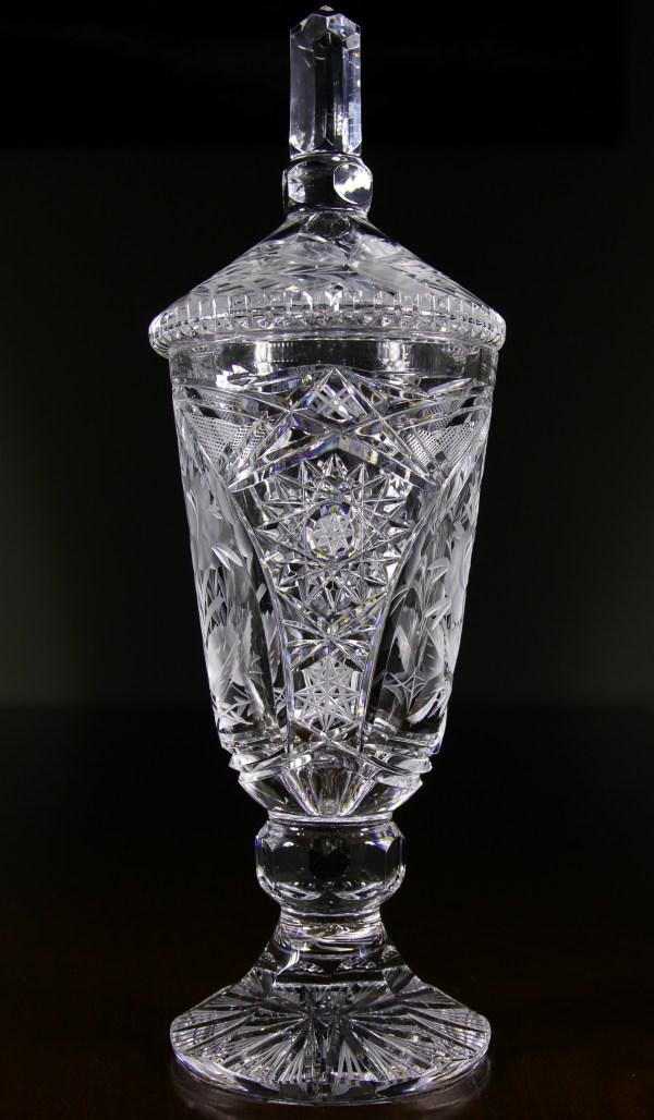 16 inch cut glass Urn FAULKNER39S ARTIQUES