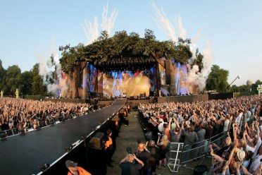 LONDON, ENGLAND - JULY 13:  A general view of The Rolling Stones performing on stage during a headline performance as part of Barclaycard Present British Summer Time Hyde Park on July 13, 2013 in London, England.  (Photo by Dave J Hogan/Getty Images)