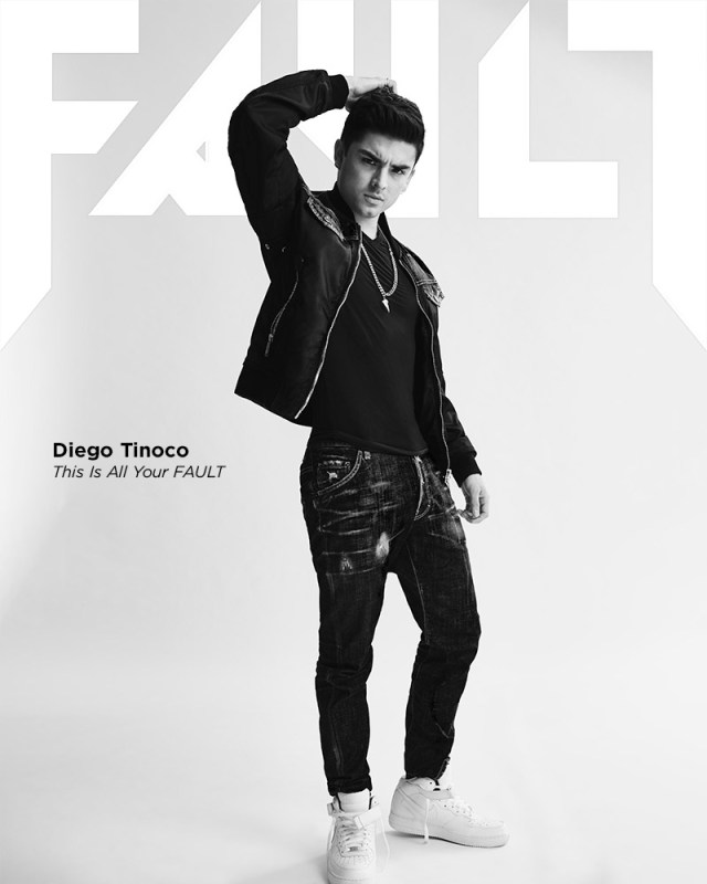 Diego Tinoco fault magazine cover photoshoot on my block
