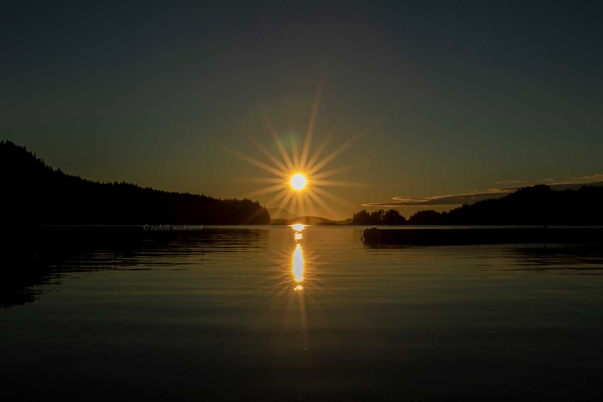 farewell harbour sunset british columbia canada