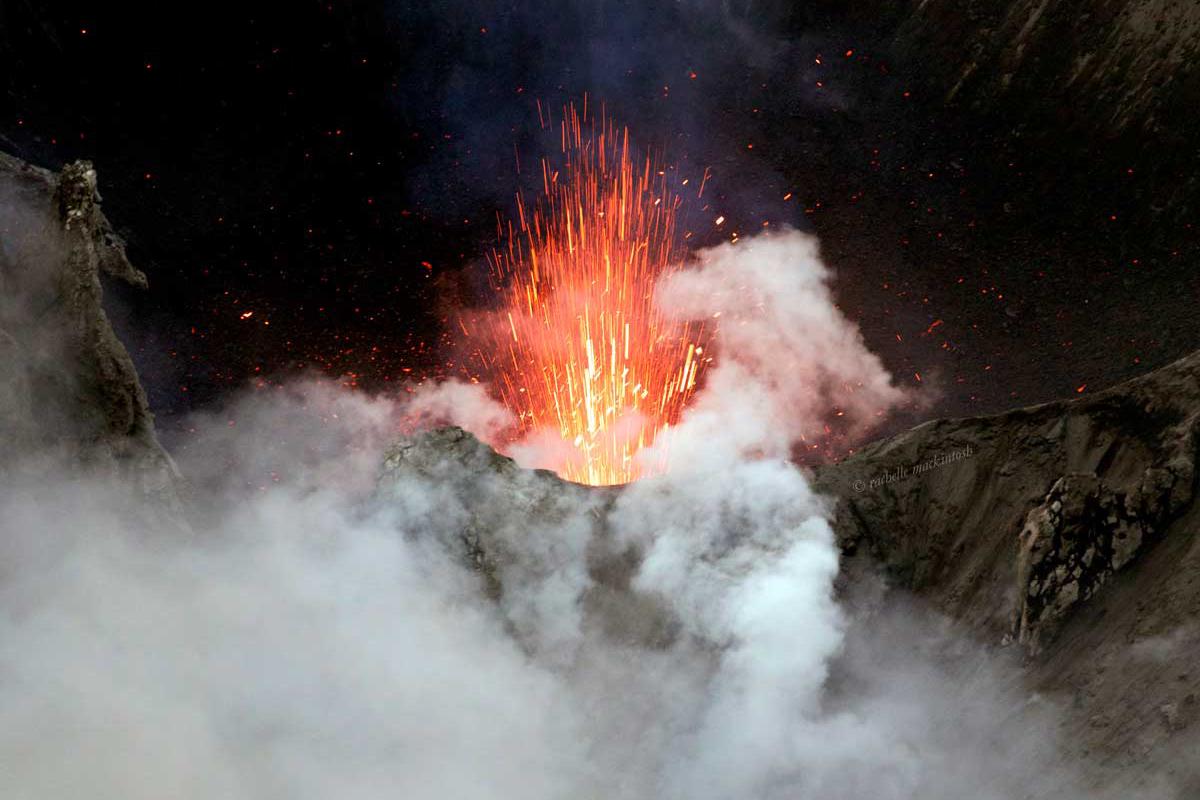 volcano yasur vanuatu tanna island explosion writing