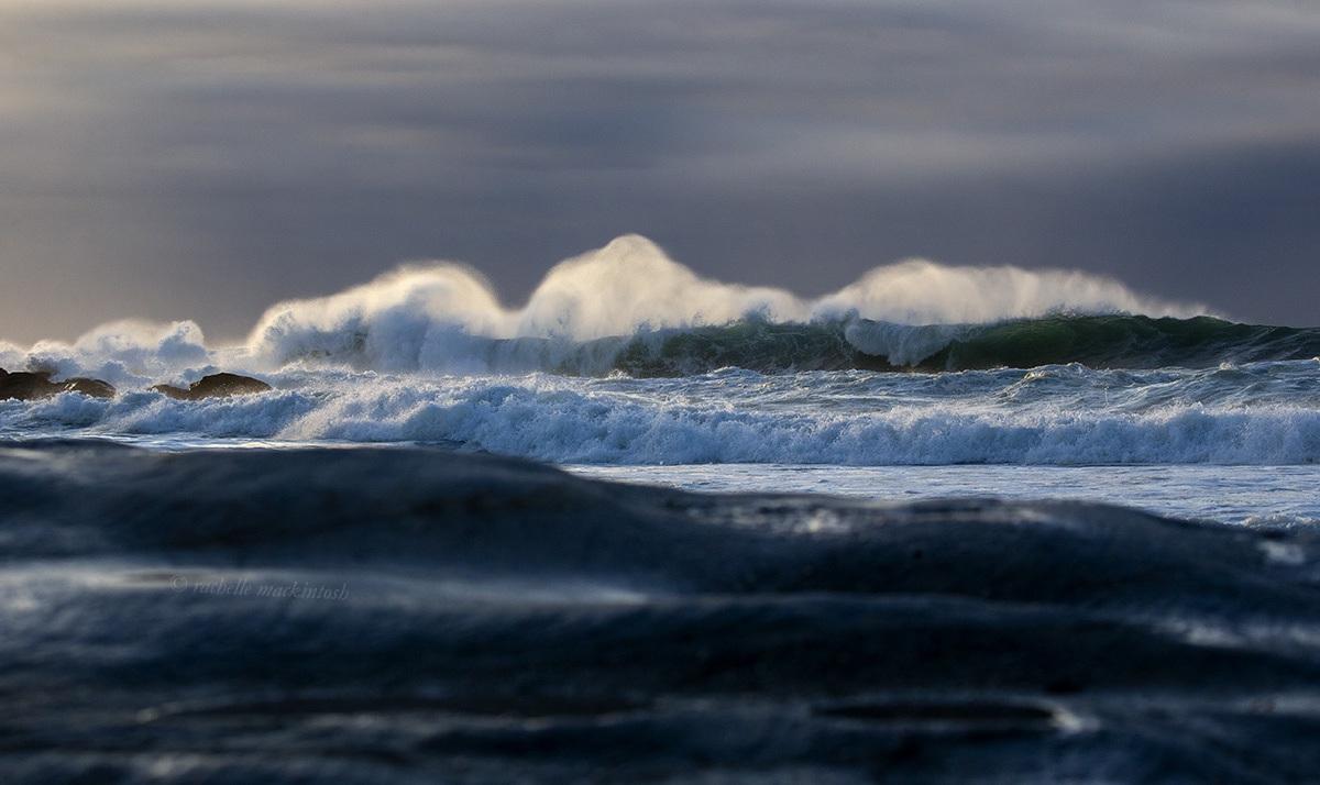 maroubra stormy sunrise waves australia surf