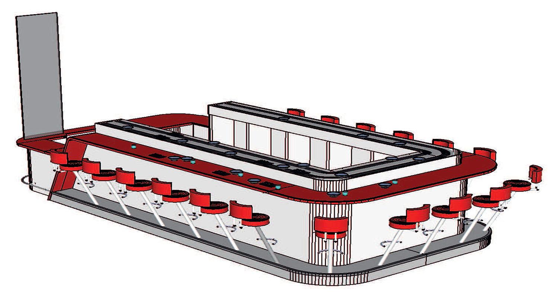 conception d un restaurant japonais centre commercial saint laurent du var bernard fauroux architecte dplg