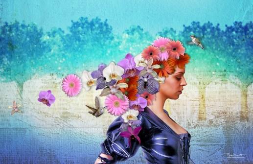 Thoughts Bursting | Original Digital Artwork