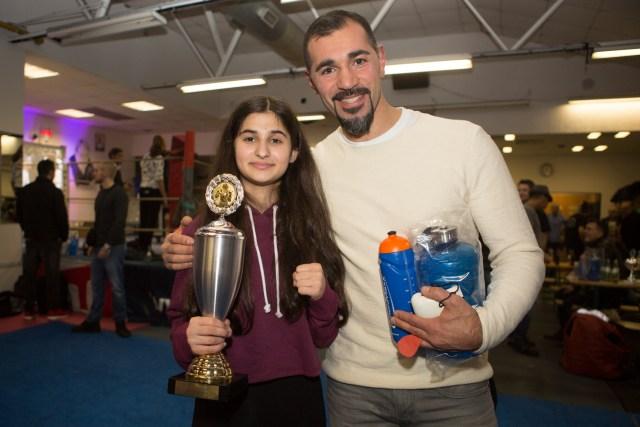 Jahresabschlussfeier 2016 - Sahika und Trainer Mehmet Hendem