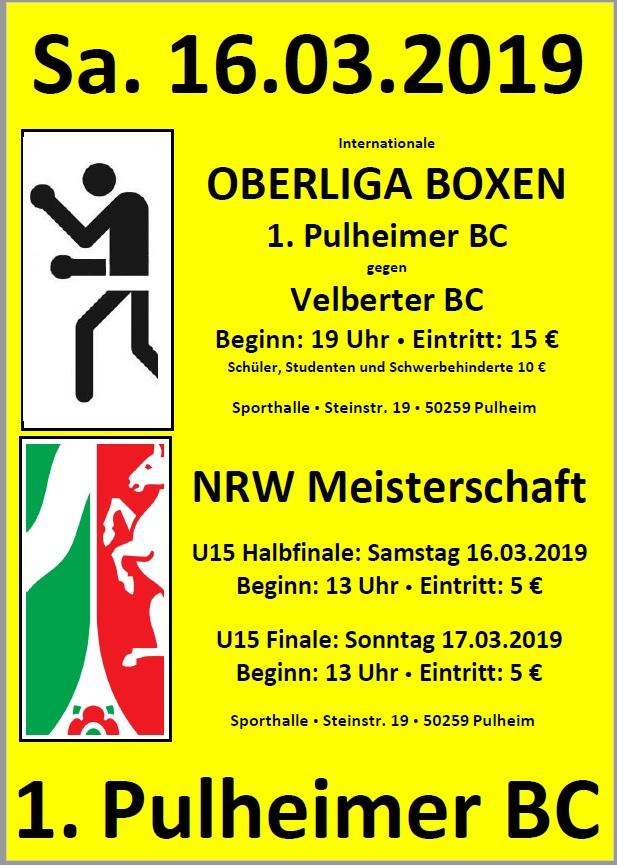 Oberliga Boxen: Pulheimer BC vs. Velbeter BC