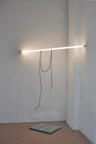 """Suspension between the day and night"",2011,Installation,glasses,light and wax"