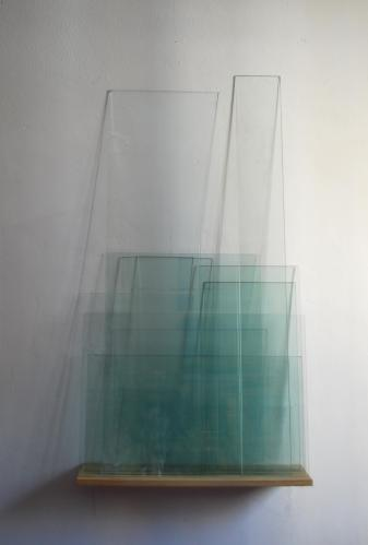 Window, 2010-11, installation on wall, glass sheets, wood board, variable dimensions