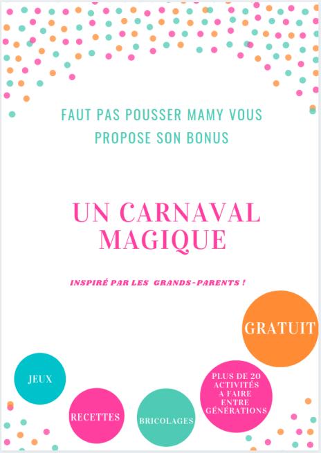 bonus activités carnaval