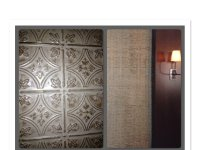 Faux Tin Tile Walls in Restaurant Private Dining Room ...