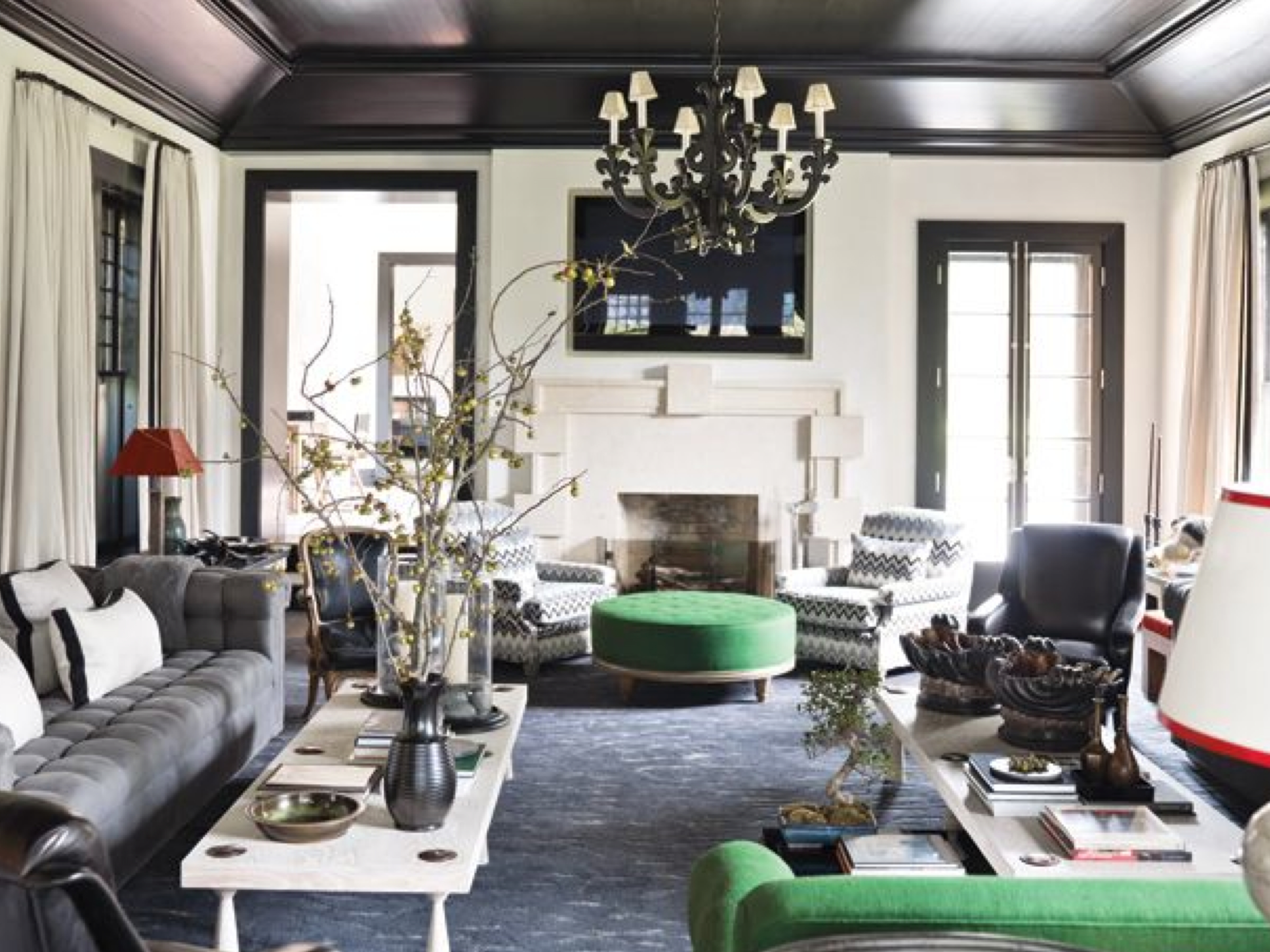 Create a Masculine Urban Chic Look with Black Ceiling Tiles  FauxTinTilescom