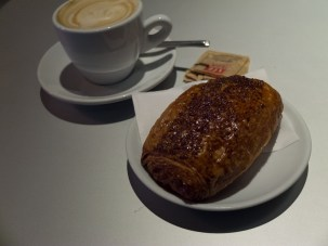 Our breakfast before embarking to the Colosseum and other sundry ancient structures.