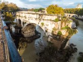 Ponte Roto. This is just a one arch of three that used to cross the Tiber river back in 2 A.D.