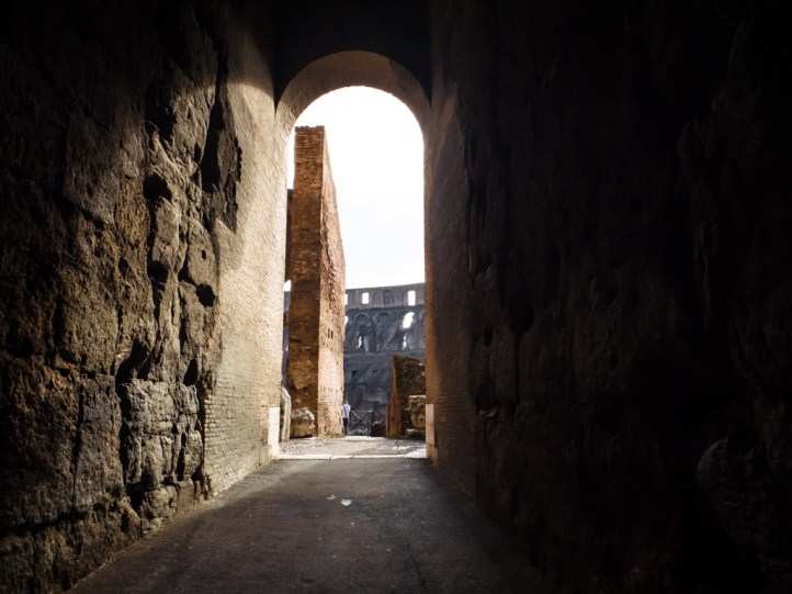 "One of the many entrances to the colosseum ""bleachers"""