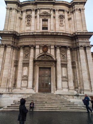 Facade of Santi Luca e Martina
