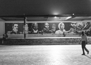 Wall of statesmen in the commons in Gonaives.