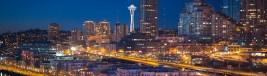 Seattle skyline as seen from Seattle Great Wheel. Leica M-P / Summilux 50mm
