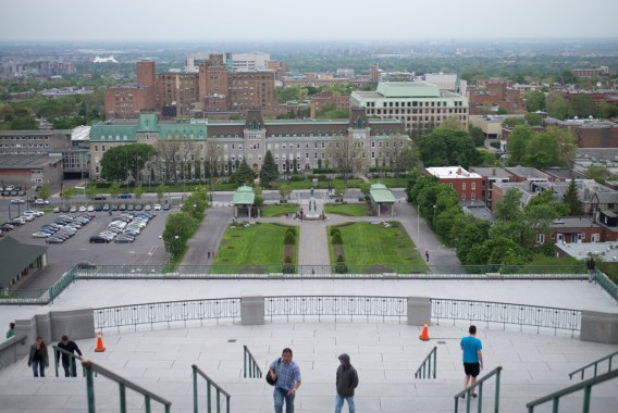 View of Montreal from the Basilica