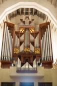 Closeup of the organ at St. Joseph