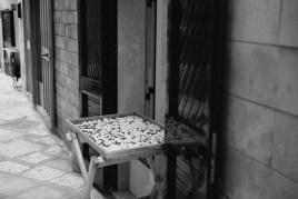 Orecchiette drying outside