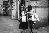 Two lost girls in the Gothic Quarter