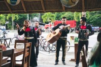 Mariachi serenading us at El Camello restaurant. The singer had a beautiful voice!
