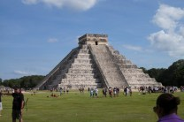 Northwest corner. You could almost see Kukulkan slithering down the North side.