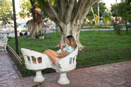Chillaxing in Francisco Canton park