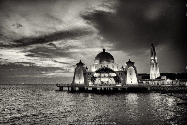 76 Foto Gambar Masjid Hitam Putih Cdr Terlihat Keren