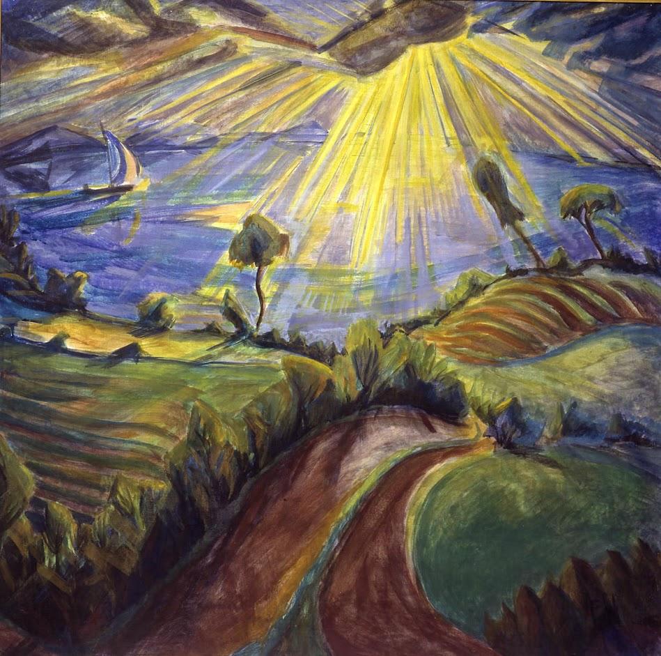 Erich Heckel 8 Paisaje De Primavera 1917 Favourite Art Iv
