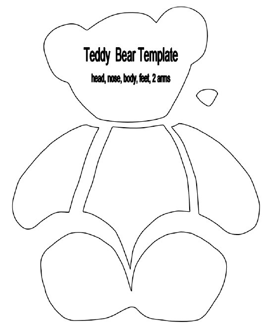 Paper Teddy Bear Template: full version free software