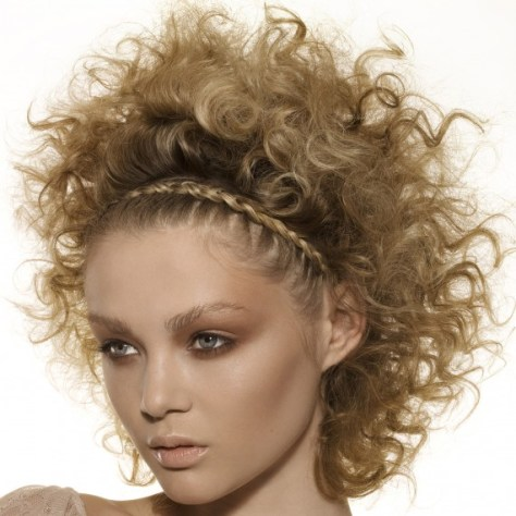 Blonde Afro Hairstyles