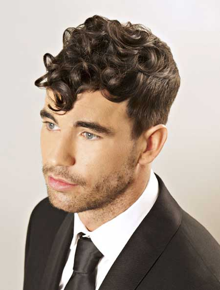 Cool haircuts for curly hair men 2015