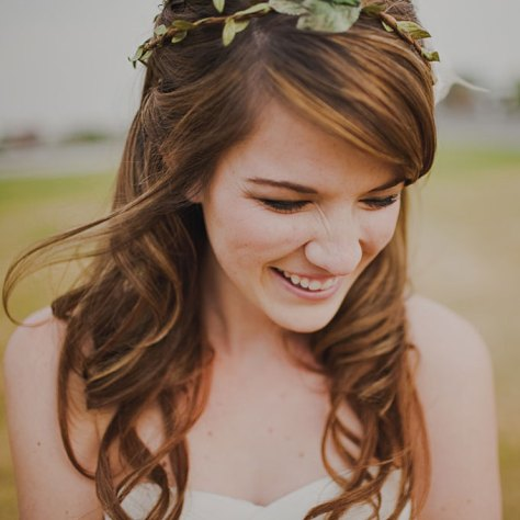 Curly Wedding Hairstyle Idea