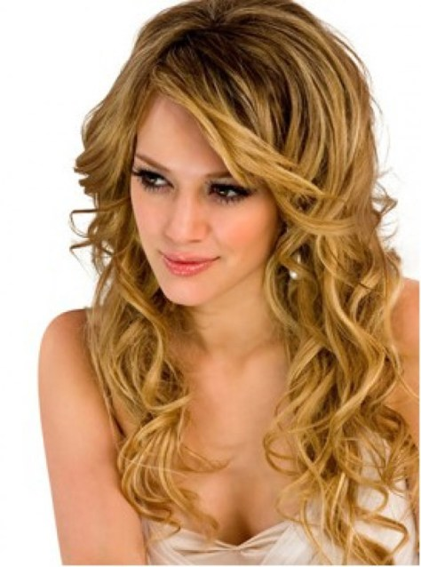 Curly hairstyles for long blonde hair