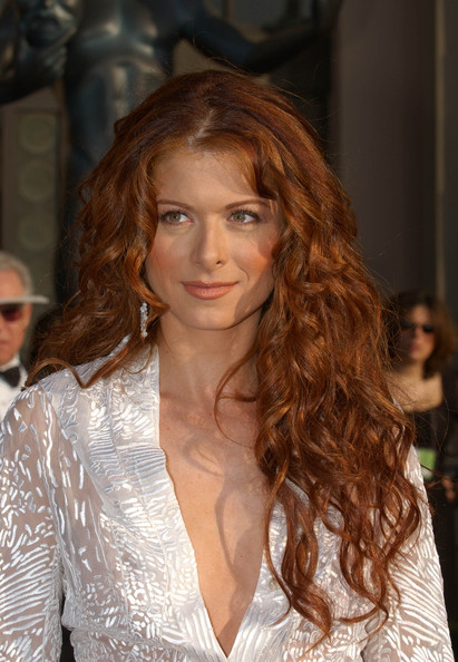 Debra Messing Long Red Curly Hair Style