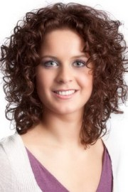 sensational medium length curly