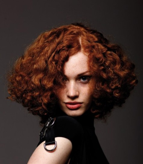 Hairstyles for short curly red hair