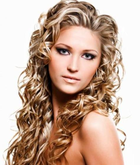 Long Blonde Natural Curly Hairstyle